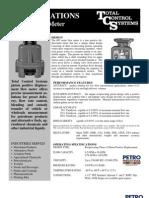 PETRO TCS 682-15 Piston Meter Spec Sheet