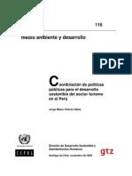 Coordinación de políticas públicas para el desarrollo sostenible del sector turismo en el Perú