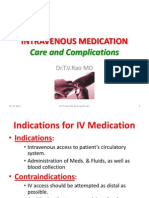 Intravenous Medication Care and Complication