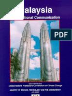 Malaysia Initial National Communication