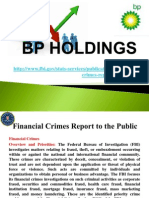 Financial Crimes Report to the Public , BP Holdings Sweden