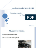 Harvard Business Review Oct'06 Presentation - Marketing Myopia