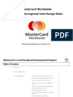 MasterCard Interchange Rates and Criteria
