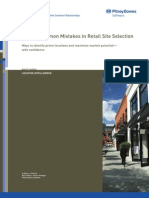 10 Common Mistakes in Retail Site Selection