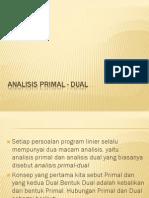 Analisis Primal Dual