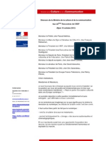 Discours Dijon Aurélie Filippetti 22e édition ARP