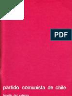 Boletín del Exterior Partido Comunista de Chile Nº34
