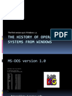 History of Windows Operating System