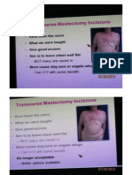 Transverse Mastectomy Incisions