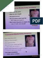Transverse Mastectomy Incisions