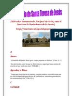 EL ABECEDARIO DE SANTA TERESA DE JESÚS | ALIANZA DE AMOR