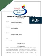 ORGANIZACIÓN DE UN ESTABLECIMIENTO DE HOSPEDAJE