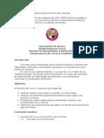 Programa Para La Materia Comunicación Oral y Escrita