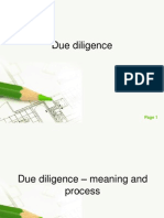 Due Diligence(1)