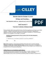 Jackie Cilley Election Alert for October 19 2012