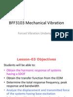 Mechanical Vibration Forced Undamped