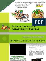 Semana Nacional de Alimentación Escolar