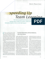 BEST PRACTICE Speeding Up Team Learning the Most Successful
