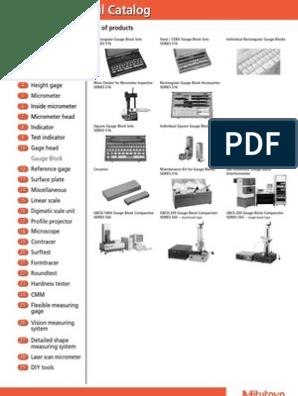 Mitutoyo Steel Rectangular Gage Block ASME Grade AS-1 1.02 mm Length