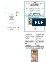 FESTAL MATINS - 2012 -14 Nov -St Philip the Apostle