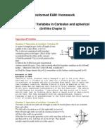 Homework Separation of Variables