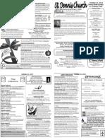 October 21 Bulletin