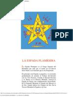 EL PENTAGRAMA ESOTERICO - LA ESPADA FLAMÍGERA