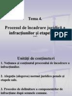 Tema 4. Procesul de Incadrare Juridica Si Etapele Sale
