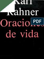 Rahner, Karl - Oraciones de Vida