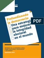 Profundizando La Democracia, Una Estrategia Para Mejorar La Integridad Electoral en El Mundo