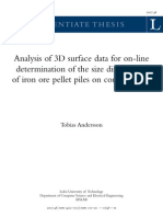 Analysis of 3D Surface Data for on-line Determination of the Size Distribution of Iron Ore Pellet Piles on Conveyor Belt