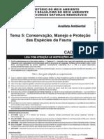 Prova_IBAMA2008_Conservação_especies_fauna_