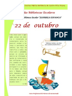 Cartaz dia das bibliotecas escolares
