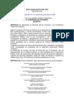 ACTO LEGISLATIVO No. 02 de 1993. Normas Transitorias Presupuestales