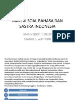 Materi Soal Bahasa Dan Sastra Indonesia.baru 3 Pptx