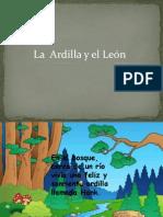Ardilla y Leon fábula