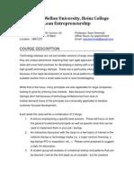Lean Entrepreneurship Syllabus