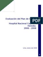 Evaluacion Plan 2006 2008 HNCH