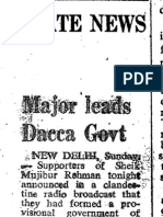 Bangladesh Liberation War 1971 Newspapers