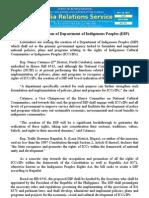 oct22_Solons seek creation of Department of Indigenous Peoples (DIP)