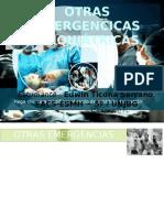 EMERGENCIAS PSIQUIÁTRICAS. OTRAS EMERGENCIAS