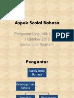 Aspek Sosial Bahasa