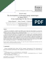The Development of Advanced Energy Technologies in Japan IGCC