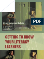 Literate Environment Analysis