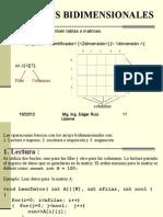 4 Array Bidimensionales C++