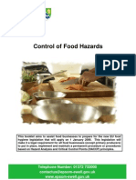 Control of Food Hazards