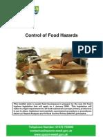 Control of Food Hazards