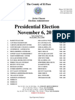 Early Voting Locations General Election