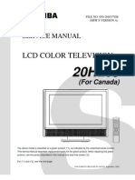 Toshiba Lcd Tv 20HL85 Service Manual