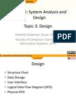 SystemAnalysisAndDesign Topic3 Design